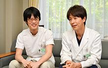右:安田透先生、左:梅谷洋介先生。息の合ったやり取りが患者に安心感を与えている