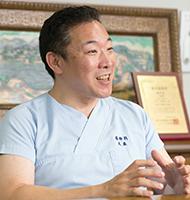 ICU導入の発案者でもある大嶽浩司副院長