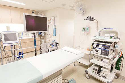 多くの人が快適に精密な検査ができるよう配慮されている内視鏡検査室