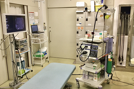 精密な検査を快適に受けられるよう配慮されている内視鏡検査室