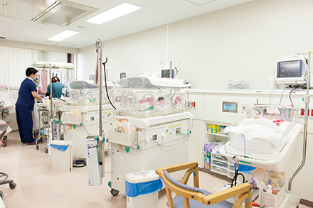 地域周産期母子医療センターでは、千葉県各地や東京都から患者を受け入れている