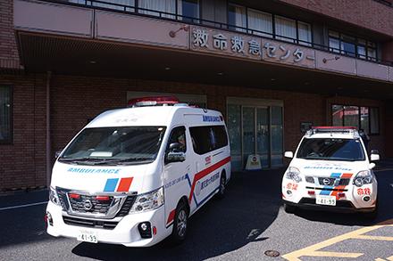 ラピッドカーを運用。重症患者発生時に、医師と看護師が救急現場へ急行し救命率向上に努めている