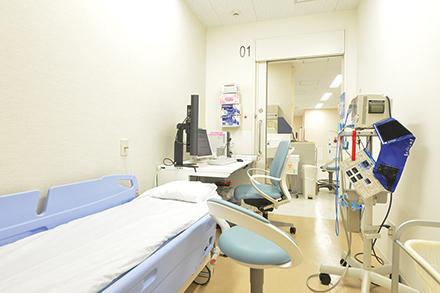 トリアージ専用の診察室。ここでの判断がその後の結果につながる