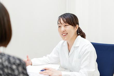管理栄養士による栄養相談が受けられる。患者一人ひとりにきめ細かにサポート。同院のほかクリニックで特定保健指導(動機づけ支援)にも対応