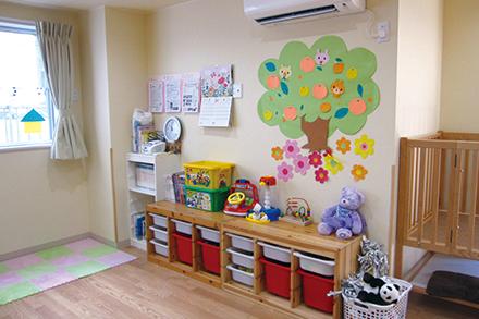 健診中、子どもを保育室で預かるサービスを提供