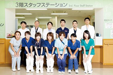 心臓病部門のスタッフたち。チームの結束も固い