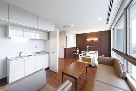 一般病棟の特別個室はプライバシーに配慮された完全個室になっている