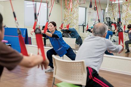 体力・筋力アップで心機能の回復を図るリハビリテーション。心臓についた脂肪を落とすことで再発予防にもつなげる