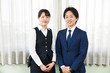 より良い医療連携が地域住民のためになると考える田雑さん(左)と鈴木さん(右)