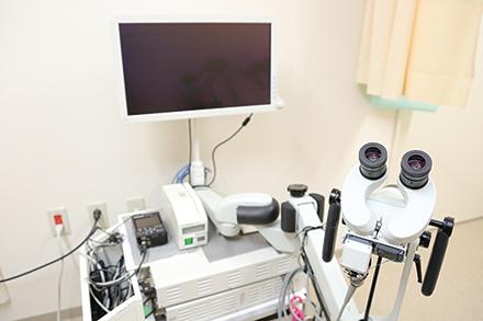 コルポスコープを用いた精密検査も同院の特徴