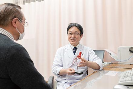 わかりやすい説明を心がけている赤坂科長。外来以外にも疾患を知ってもらう機会を増やしたいと話す